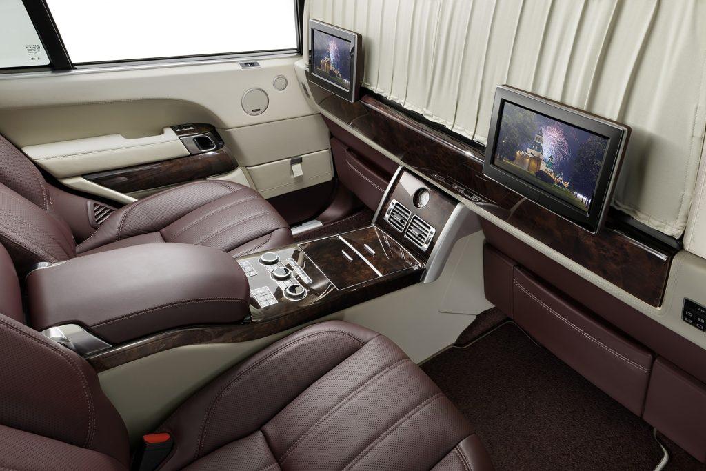межсалонная перегородка в Range Rover. Фото 7