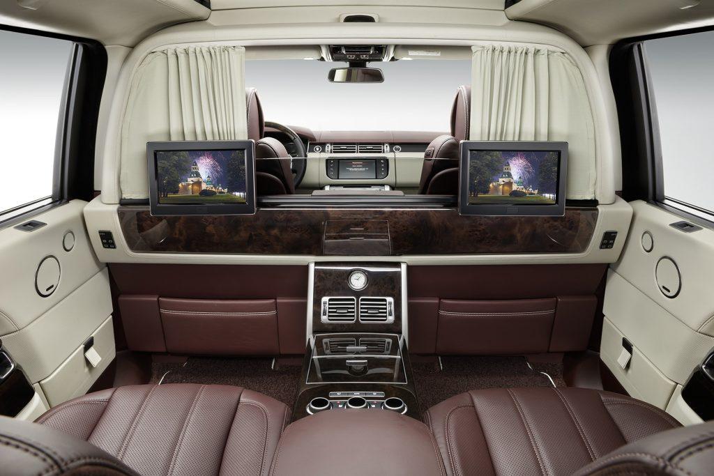 межсалонная перегородка в Range Rover. Фото 6